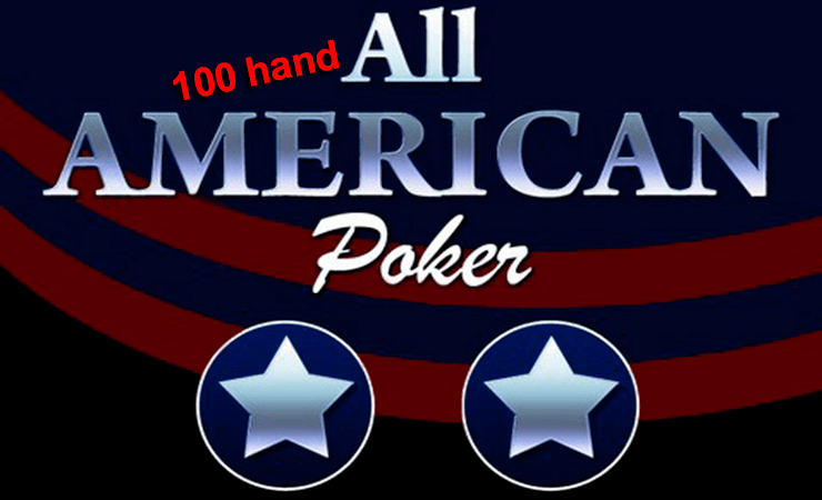 Play All American Videopoker Online