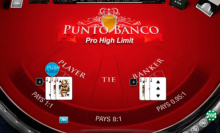 punto banco professional series medium casino