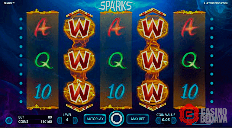 sparks netent slot oyunu