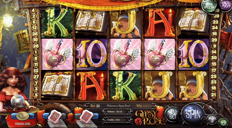 gypsy rose betsoft slot oyunu