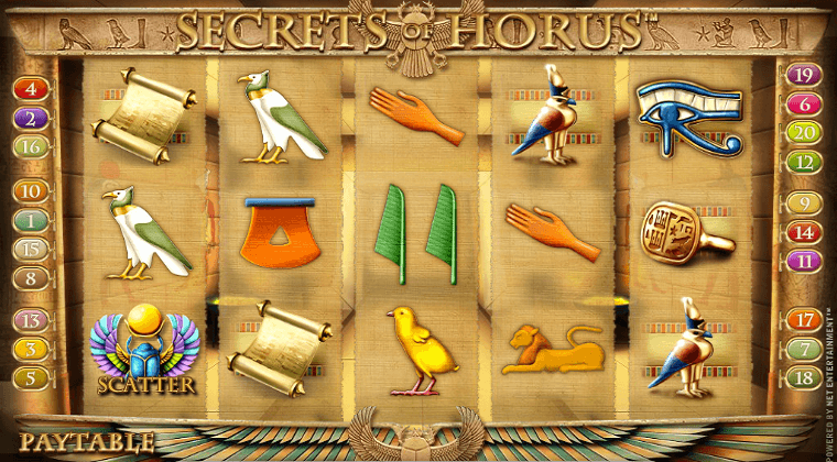 secrets of horus netent slot oyunu