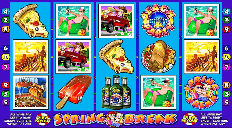 spring break microgaming slot oyunu