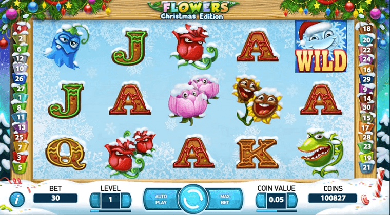flowers christmas edition netent slot oyunu